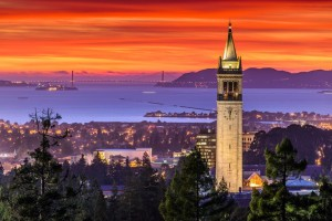 21732759 - dramatic sunset over san francisco bay and the campanile